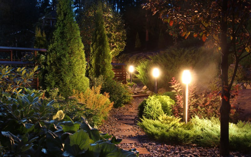Landscaped With Lighting
