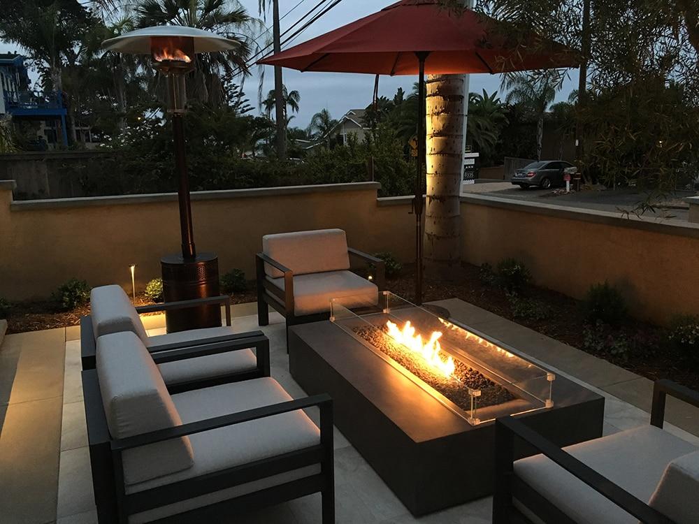 Rectangular Fire Pit San Diego